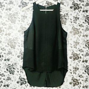Rag & Bone black sleeveless zip back hi low top